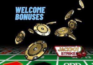 jackpot strike casino welcome bonus